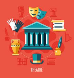 Theatre colored composition vector