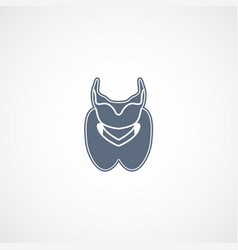 thyroid logo icon design vector image