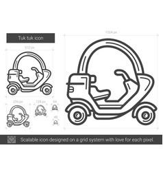 tuk tuk line icon vector image