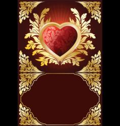 valentine heart boarder vector image