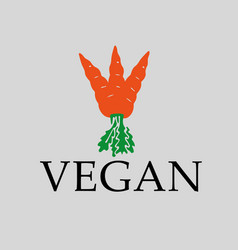 Vegan carrot sign vector
