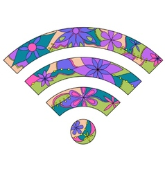 Wi fi sign vector image