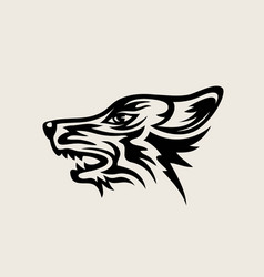 wolf face logo vector image