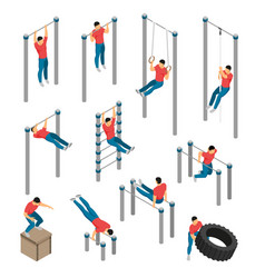 workout gym icons collection vector image