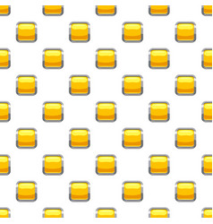 Yellow square button pattern vector