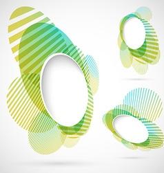 Bright green blue summer design elements vector image