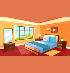 cartoon bedroom interior background vector image