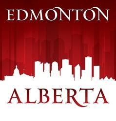 Edmonton Alberta Canada city skyline silhouette vector image vector image