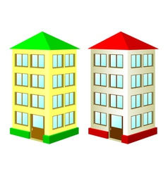 two high houses vector image vector image
