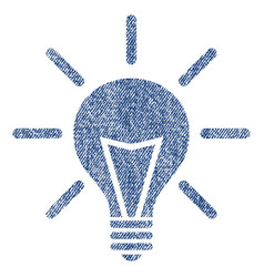 electric light fabric textured icon vector image