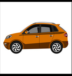 flat car crossover vector image vector image