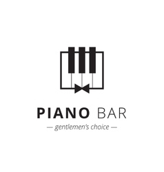 minimalistic piano logo Music sign vector image