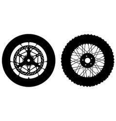 Motorbike wheels vector image