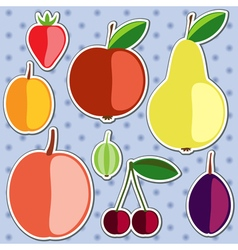 Set of silhouettes of fruits vector image