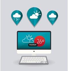 Weather mobile app design vector