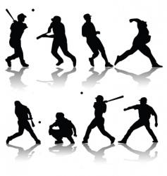 baseball players vector image vector image