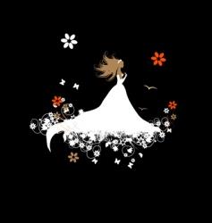 bride beautiful vector image