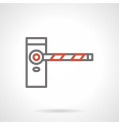Classic road barrier black line icon vector image vector image