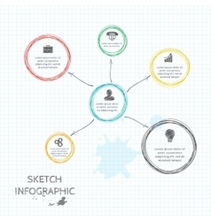 Doodle sketch elements for infographic vector