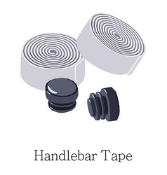 Tape handlebar icon isometric 3d style vector