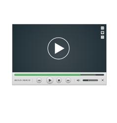 Video Player mockup vector image