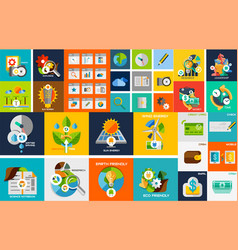 flat design elements web design elements vector image