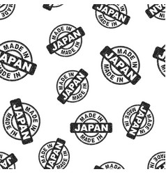made in japan stamp seamless pattern background vector image