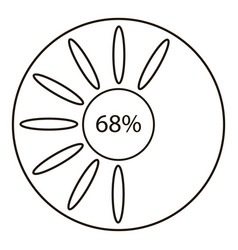 sixty eight infographics outline style vector image