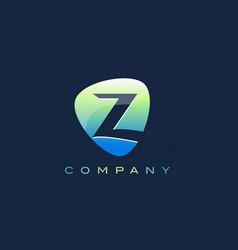 z letter logo oval shape modern design vector image vector image