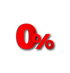 0 zero percent black friday text vector