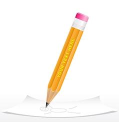 3d black pencil vector image