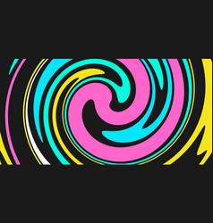 abstract colorful background with waves and swirls vector image