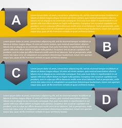 Abstract paper infographic Modern design template vector