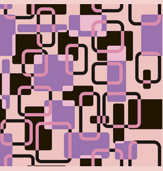 abstract squares seamless vitage pink vector image
