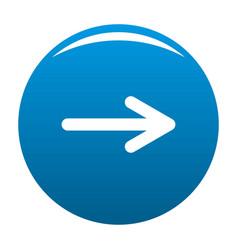 Arrow icon blue vector