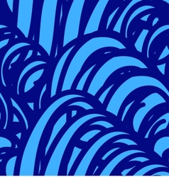 background with abstract blue waves Seamless vector image