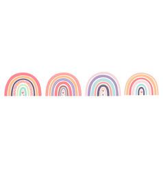 bacute rainbows with hearts scandinavian vector image