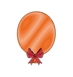 balloon bow globe vector image