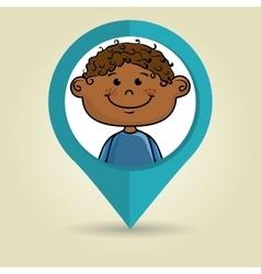 boy child kids icon vector image