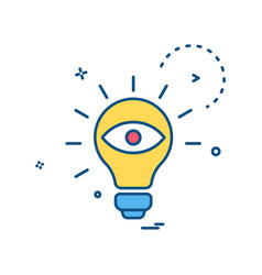 bulb eye icon design vector image