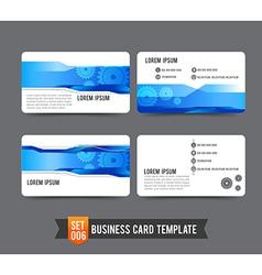 Business Card template set 006 Gear technology vector image