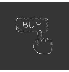 Buy button Drawn in chalk icon vector
