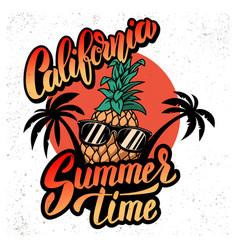 california summer time emblem template vector image