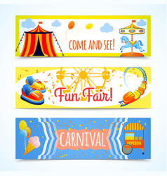 Carnival banners horizontal vector image