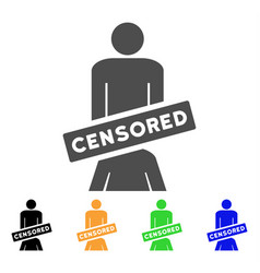 Censored oral sex persons icon vector