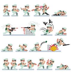 charactersgameflatgreen berreticon mancartoon vector image