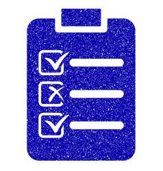 Check list icon grunge watermark vector
