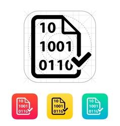 Checked file icon vector image