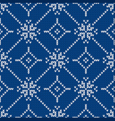 Christmas and new year knitted seamless pattern vector