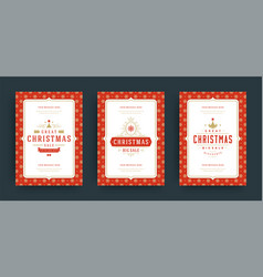 christmas sale flyers or banners design set vector image